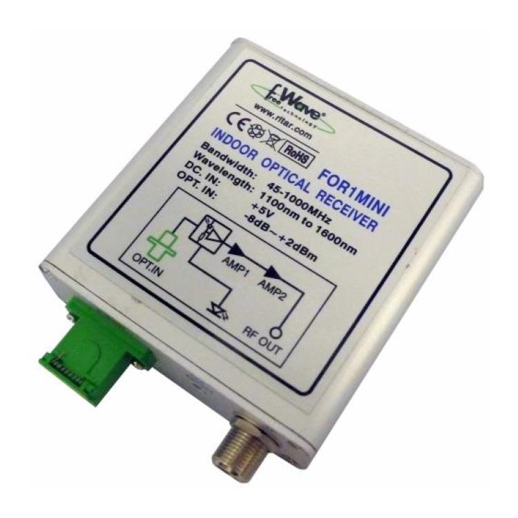 Convertitore Ottico - Coassiale DTT (DAB+VHF+UHF)