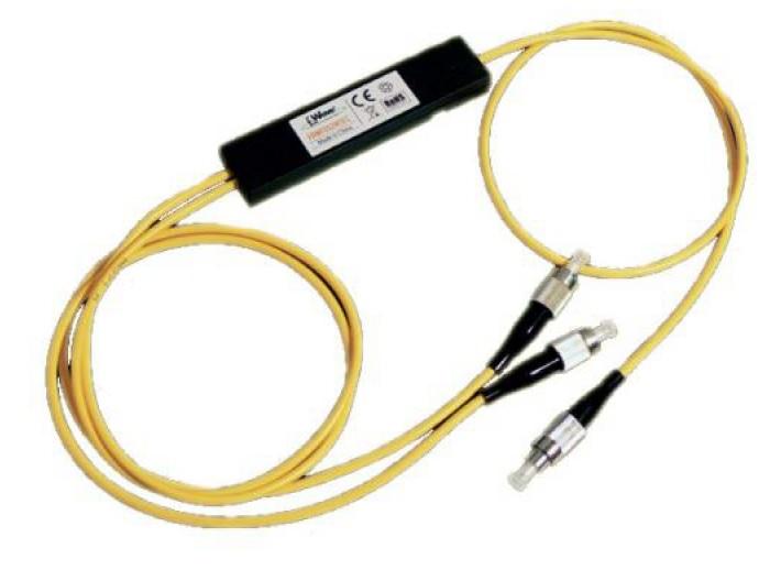 Splitter ottico a 2 vie con 50cm fibra preterminata FC