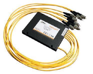 Coupler ottico a 4 vie 10/30*3 con 50cm fibra preterminata FC