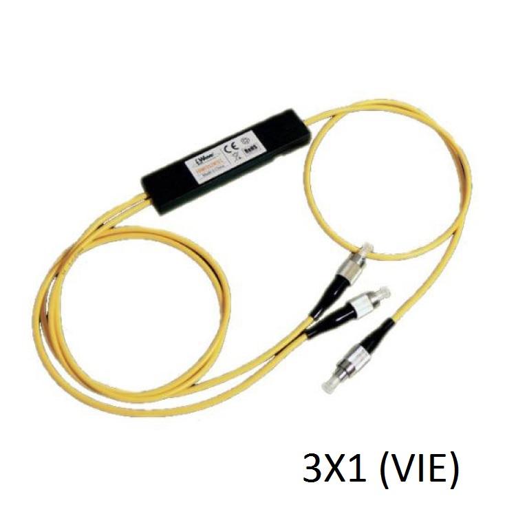 Coupler ottico a 2 vie 90/10 con 50cm fibra preterminata FC