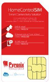 Home control SIM. Per connettersi senza pensieri con l'APP Pyronix a prezzo fisso per tutto l'anno. Senza costi fuori soglia.