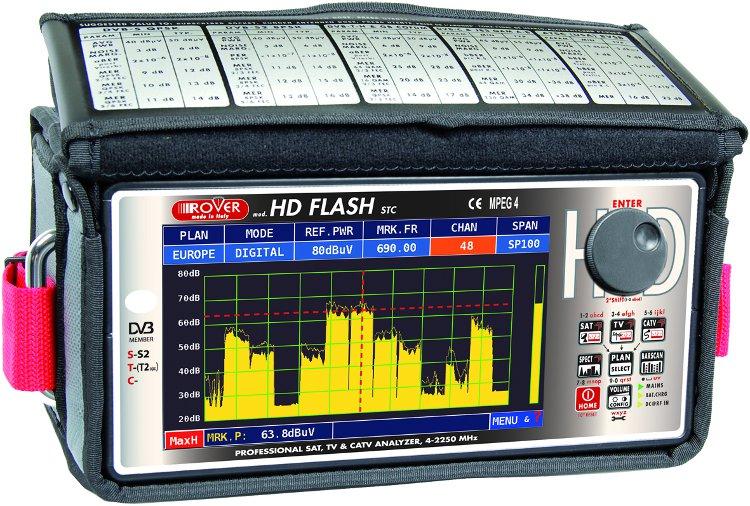 Analizzatore professionale HD FLASH per: DVBS/S2/T/T2