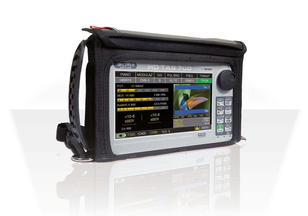 Misuratore di campo DVB-T/T2/S/S2/C ingresso ottico, LTE e Riflettometro Display 7
