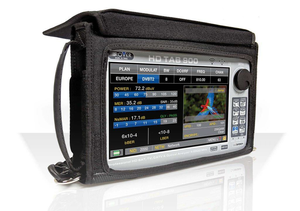 Misuratore di campo DVB-T/T2/S/S2/C ingresso ottico, LTE e Riflettometro Display 9