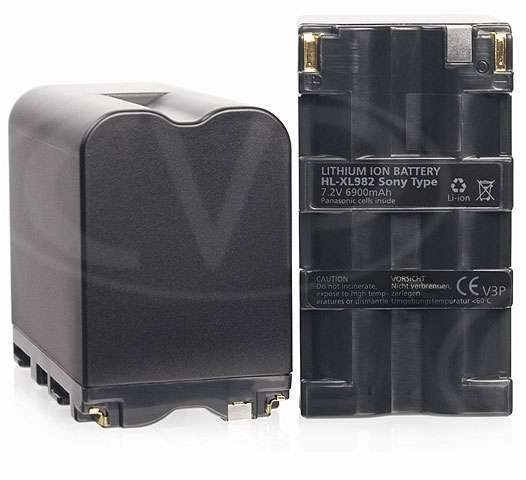 Camcorder Accu Battery Li-ion 7.2V 6000mA Sony Type