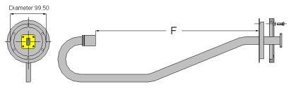 Illuminatore singola polarizzazione 14,2:14,6GHz per parabola 2mt foro 100mm