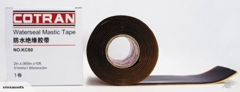 WATERSEAL MASTIC TAPE 51mm x 1.65mm x 3m COTRAN