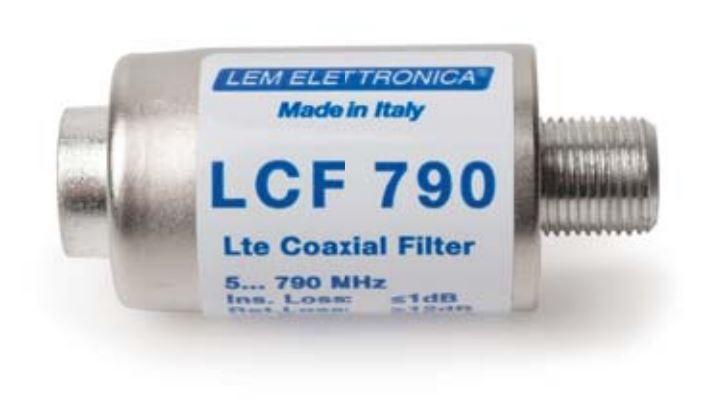 Filtro LTE con connettori F