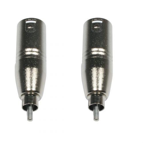 Adattatore XLR-m/RCA-m 2pz