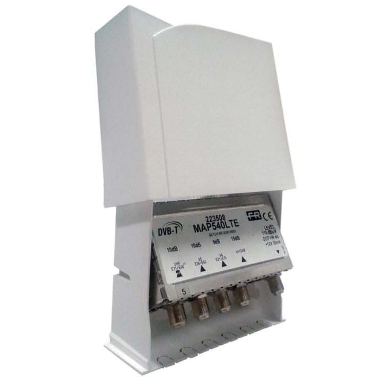 Amplificatore MAP541LTE III,IV,V,UHF 20dB Reg. 115dBuV LTE Taglio 40/42
