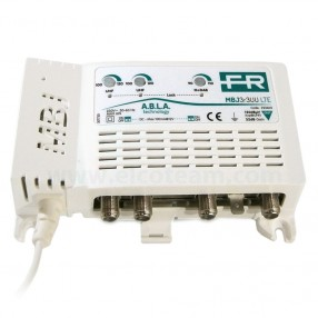 Centralino 3IN V,U,U LTE Free,N. ingressi: 3Tipologia Ingressi: 3+DAB, UHF, UHFN° Uscite: 1Guadagno: 32 dBLivello massimo di uscita VHF/UHF: 110/120 dBuVConsumo Massimo: 6WFigura di rumore VHF/UHF: 6/9 dB