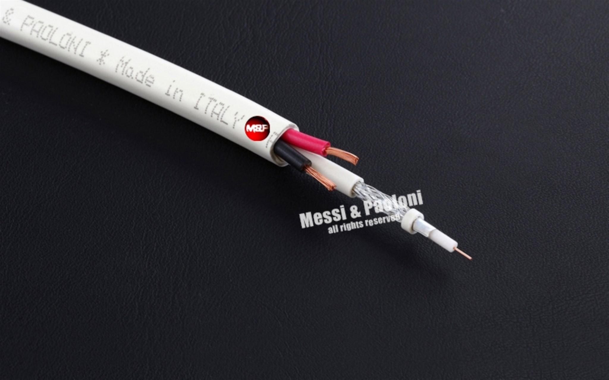 Cavo MicroCoaxHD + 2x0,50 per TVCC 7,6 mm PVC