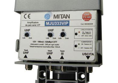 Amplificatore da Palo 4 ing.12V III,IV,V, UHF 32dB 120dBuV Taglio CH40-42