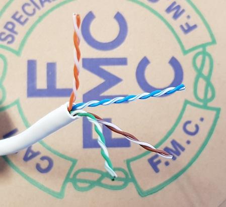 Cavo U/UTP Cat.5e FR-PE bianco easybox mt 150 FMC AWG24