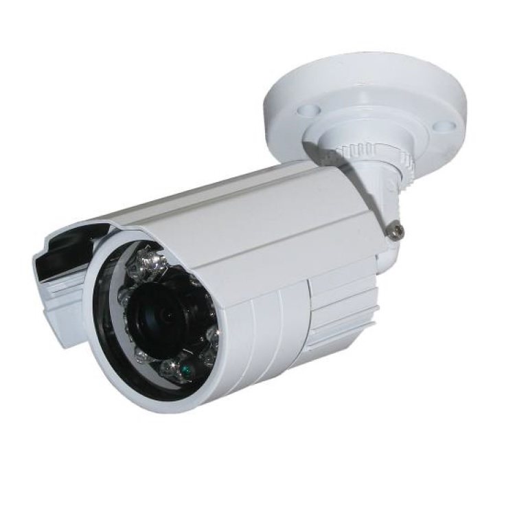 Telecamera Bullet D&N IP66; 650 TVL ; Filtro IR Elettronico; Ottica fissa 6,0mm; IR 20mt a 23 LED; 12 Vdc 300mA