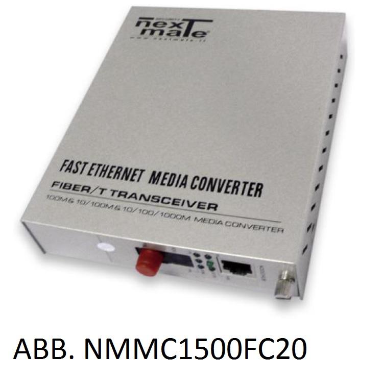 Media Converter WDM su FO SM 10/100 (solo abbinato a NMMC1500FC20)