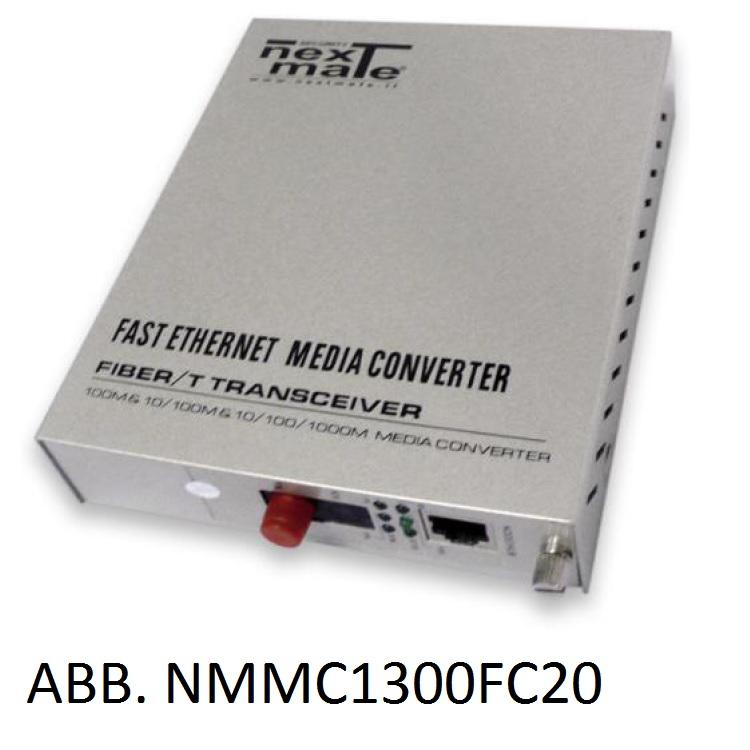 Media Converter WDM su FO SM 10/100 (solo abbinato a NMMC1300FC20)