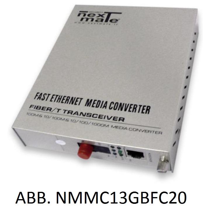 Media Converter WDM su FO SM 10/100/1000 (solo abbinato a NMMC13GBFC20)
