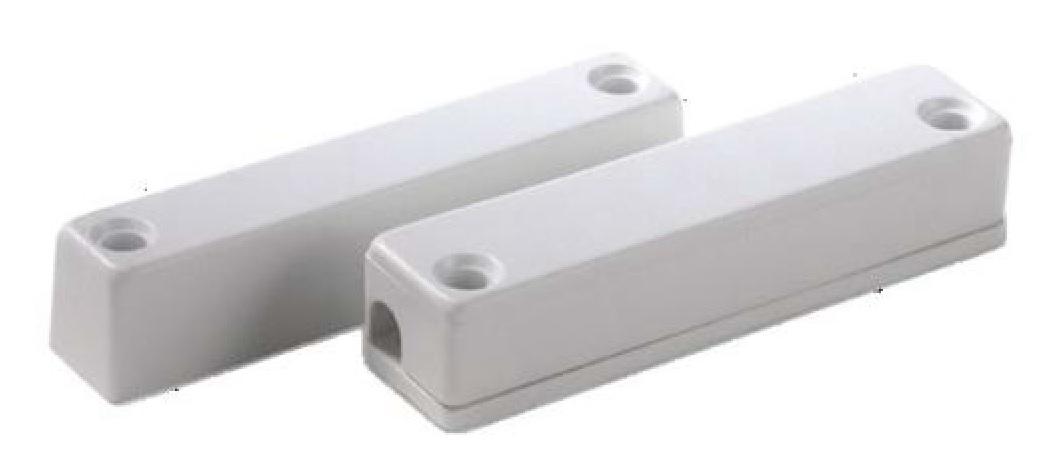 Contatto magnetico rettang. plastica 60x14x12mm nero/bianco