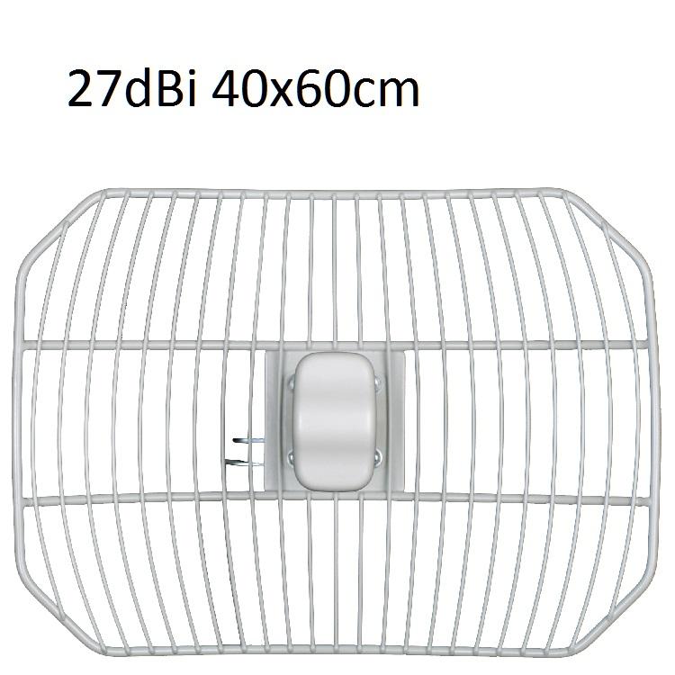 Parabola rete 5.47:5.72 27dBi COBER 40X60cm