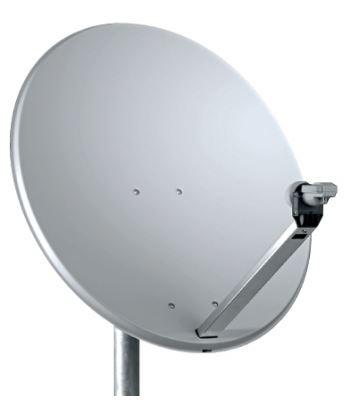 Parabola Offeset 80cm Alluminio BIANCO RAL7035