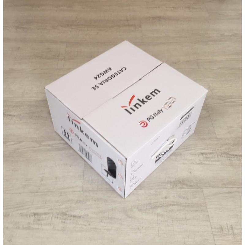 CAVO UTP CAT 5 BIANCO LINKEM in Box Cartone 305 m