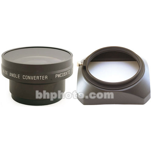 0.6x Industrial Wide Angle Converter Lens with Hood and Adapter Ring (Zoom Through, 72mm Rear Thread)