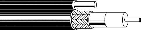 Cavo Gas-Inj. classe A Autoportante 10,1mm Nero PVC/PE + Cavo acciaio 100mt