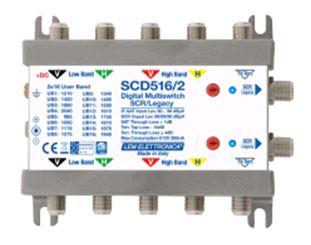 Multiswitch dCSS 5 CAVI (4 IF-SAT); 2 derivata SCR 1X16
