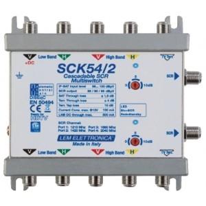 Multiswitch SCR 5X5X2 (4 x porte scr) Att. Var. 0-6-12dB
