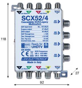 Multiswitch SCR/LEG. 5X5X4 (2 porte scr) T.-16dB
