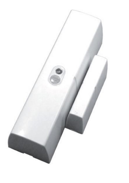 Contatto magnetico radio DualBand bidirez. + 2IN prog. Bianco