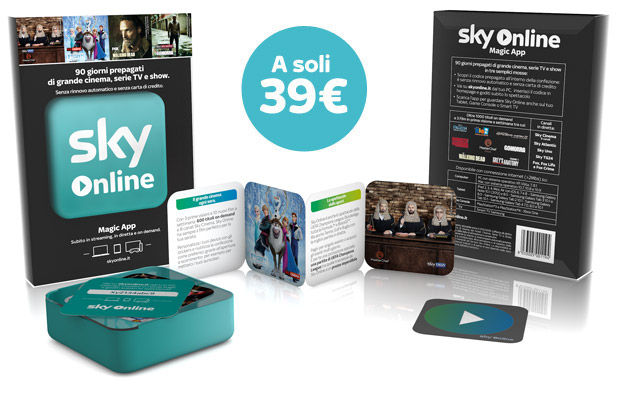 Sky On Line Magic App - 90 giorni prepagati Sky Online