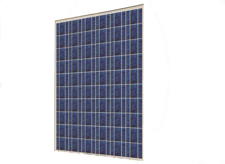 Modulo fotovoltaico policristallino da 245Wp; dim. 1637x992x40mm