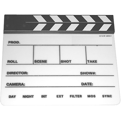 Professional Production Slate with Clapper Sticks SSN2819