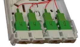 STOA - semiassemblata con 4 pigtail e adattatori SC/APC preparati nella scheda di giunzione, ma non giuntati al cavo