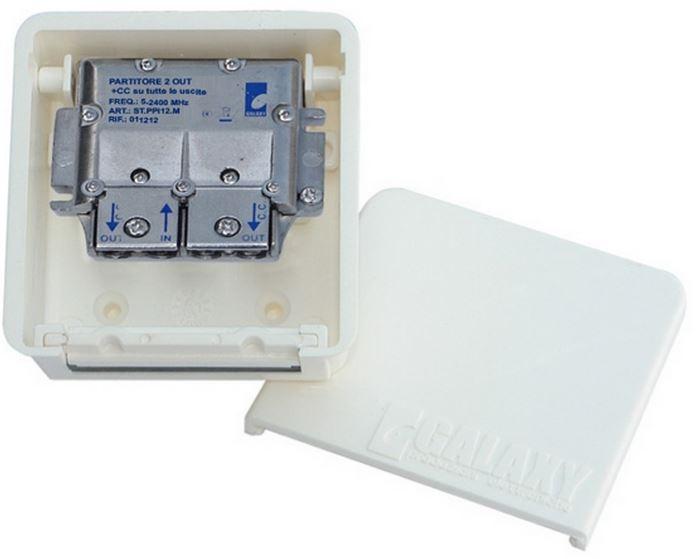 Divisore 2 Vie 5-2400MHz easyF pressofusione PowerPass da palo