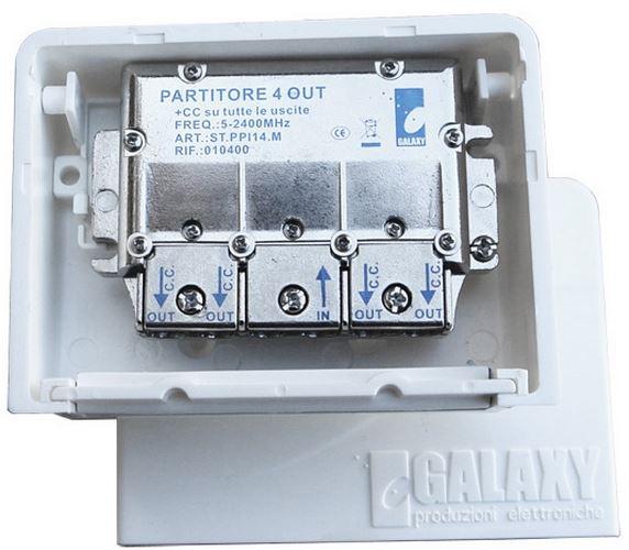 Divisore 4 Vie 5-2400MHz easyF pressofusione PowerPass da palo