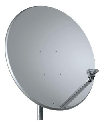 Parabola 100cm Offset TeleSystem in ALLUMINIO con supporto in acciaio zincato colore grigio