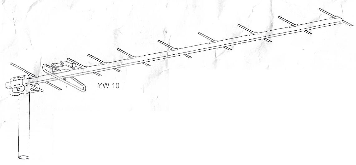 Antenna di banda 21-69 10,5 dB