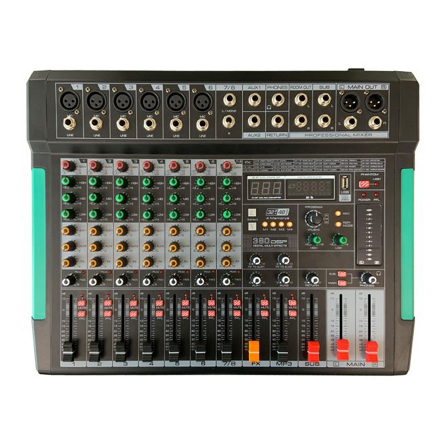 MIXER 8 CANALI CON LETTORE MP3 BLUEOOTH